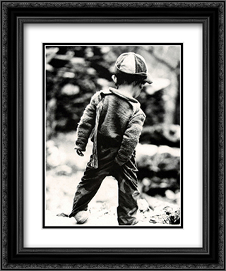 Picky, Picky 2x Matted 20x24 Black Ornate Framed Art Print by Cynthia Lake