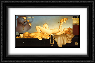 Dawn 2x Matted 24x20 Black Ornate Framed Art Print by Michael Parkes