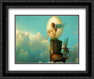 Magic Spring 2x Matted 24x20 Black Ornate Framed Art Print by Michael Parkes
