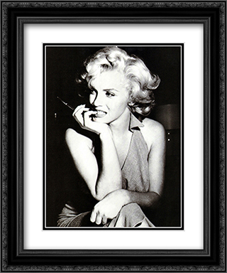Marilyn Monroe, 1952 20x24 Black Ornate Framed and Double Matted Art Print by Movie Poster