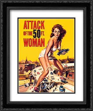 Attack of the 50 ft. Woman 20x24 Black Ornate Framed and Double Matted Art Print by Movie Poster