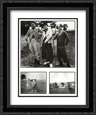 Three Stooges Golf with Your Friends 20x24 Black Ornate Framed and Double Matted Art Print by Movie Poster