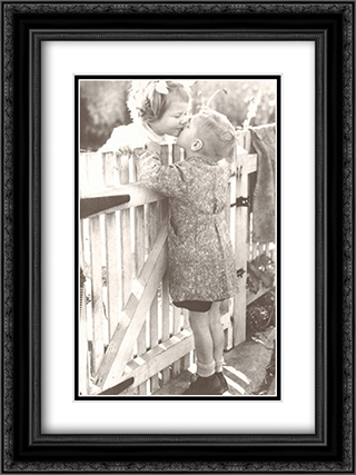 Love Thy Neighbour 2x Matted 20x24 Black Ornate Framed Art Print