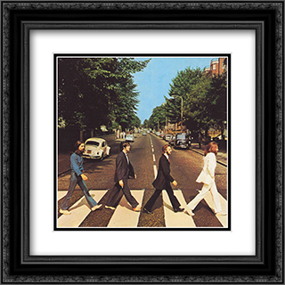 Beatles: Abbey Road 2x Matted 20x20 Black Ornate Framed Art Print