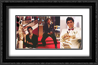Scarface 24x16 Black Ornate Framed and Double Matted Art Print by Movie Poster