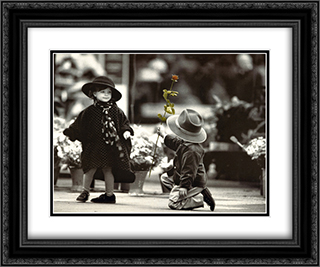 Young Adonis 2x Matted 20x24 Black Ornate Framed Art Print by Kim Anderson
