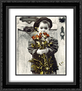Classic Love 2x Matted 20x24 Black Ornate Framed Art Print by Kim Anderson