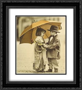 You Shouldn't Have 2x Matted 20x24 Black Ornate Framed Art Print by Kim Anderson
