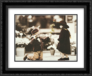 Will You Be Mine? 2x Matted 20x24 Black Ornate Framed Art Print by Kim Anderson