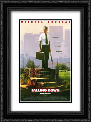 Falling Down 18x24 Black Ornate Framed and Double Matted Art Print by Movie Poster