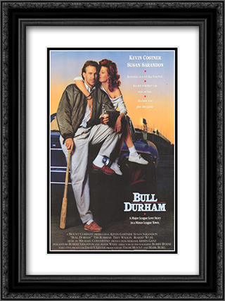 Bull Durham 18x24 Black Ornate Framed and Double Matted Art Print by Movie Poster