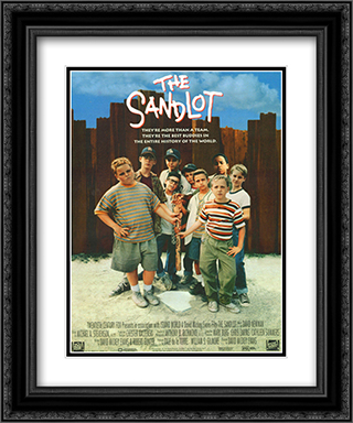 The Sandlot 20x24 Black Ornate Framed and Double Matted Art Print by Movie Poster