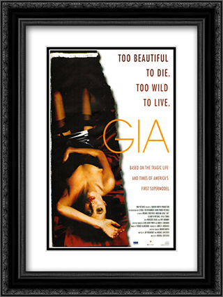 Gia 18x24 Black Ornate Framed and Double Matted Art Print by Movie Poster