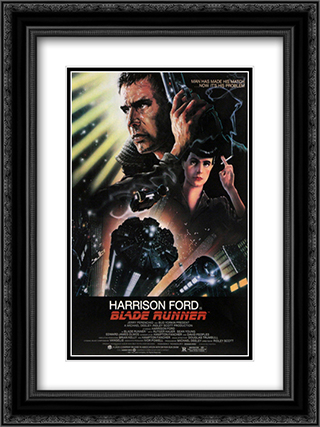 Blade Runner 18x24 Black Ornate Framed and Double Matted Art Print by Movie Poster