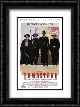 Tombstone 18x24 Black Ornate Framed and Double Matted Art Print by Movie Poster