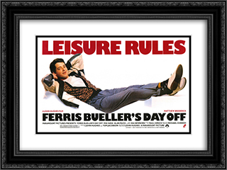 Ferris Bueller's Day Off 24x18 Black Ornate Framed and Double Matted Art Print by Movie Poster