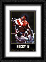 Rocky 4 18x24 Black Ornate Framed and Double Matted Art Print by Movie Poster