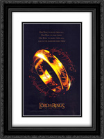 Lord of the Rings: Two Towers 18x24 Black Ornate Framed and Double Matted Art Print by Movie Poster