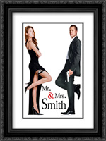 Mr. and Mrs. Smith 18x24 Black Ornate Framed and Double Matted Art Print by Movie Poster