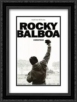Rocky Balboa 18x24 Black Ornate Framed and Double Matted Art Print by Movie Poster