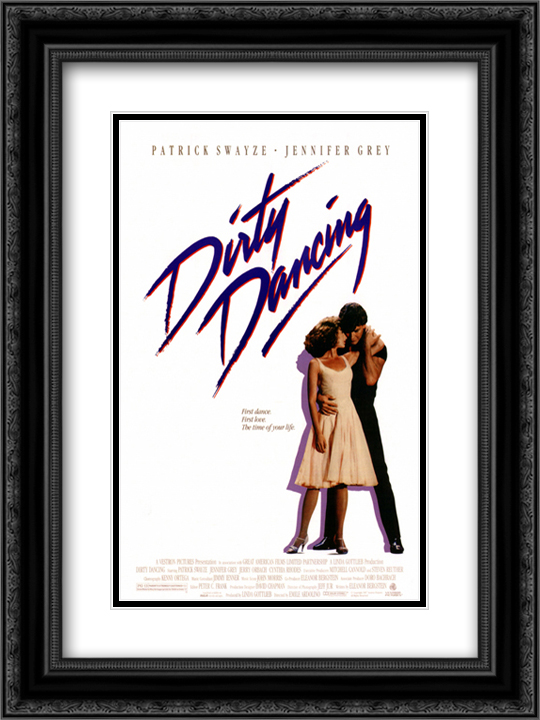Dirty Dancing 18x24 Black Ornate Framed and Double Matted Art Print by Movie Poster