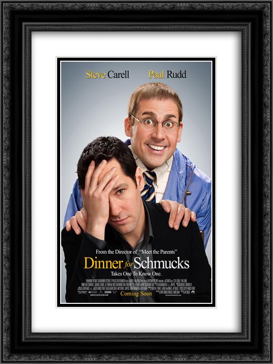 Dinner for Schmucks 18x24 Black or Gold Ornate Framed and Double Matted Art Print by Movie Poster