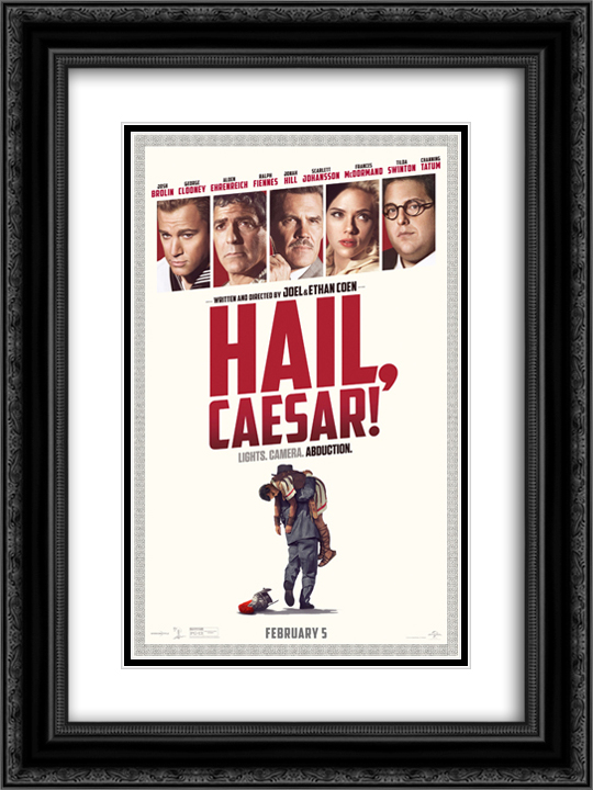 Hail, Caesar! 18x24 Black or Gold Ornate Framed and Double Matted Art Print by Movie Poster