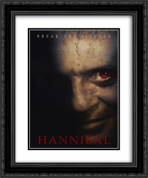 Hannibal 20x24 Black or Gold Ornate Framed and Double Matted Art Print by Movie Poster