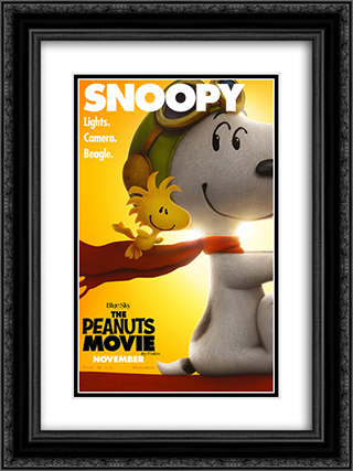 The Peanuts Movie 18x24 Black or Gold Ornate Framed and Double Matted Art Print by Movie Poster