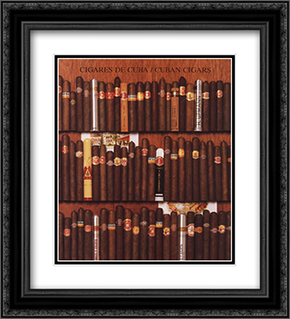 Cuban Cigars 2x Matted 20x24 Black or Gold Ornate Framed Art Print