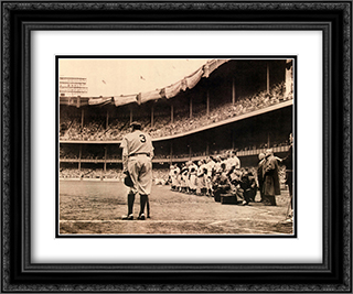 Babe Ruth Bows Out, c.1948 2x Matted 24x20 Black or Gold Ornate Framed Art Print by Nat Fein