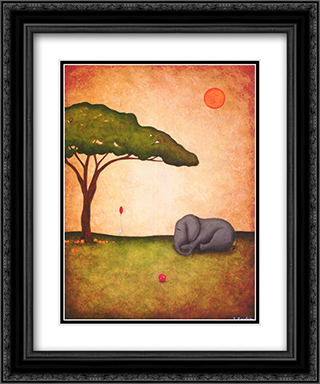 Sunday Afternoon 2x Matted 17x23 Black or Gold Ornate Framed Art Print by Shari Beaubien