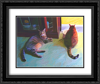 Birdie & Sweepo 2x Matted 23x17 Black or Gold Ornate Framed Art Print by Robert McClintock