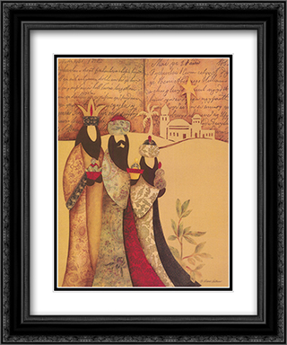 Three Wise Men 2x Matted 16x20 Black or Gold Ornate Framed Art Print by Diane Arthurs