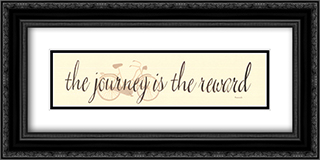 The Journey is the Reward 2x Matted 24x9 Black or Gold Ornate Framed Art Print by Donna Atkins