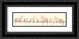 The Love Of An Old Dog 2x Matted 22x8 Black or Gold Ornate Framed Art Print by Donna Atkins