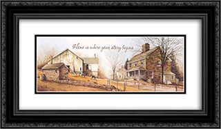 Your Story 2x Matted 22x10 Black or Gold Ornate Framed Art Print by John Rossini