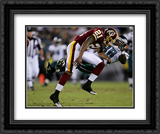 Sean Taylor - 2007 Action 2x Matted 24x20 Black or Gold Ornate Framed Art Print