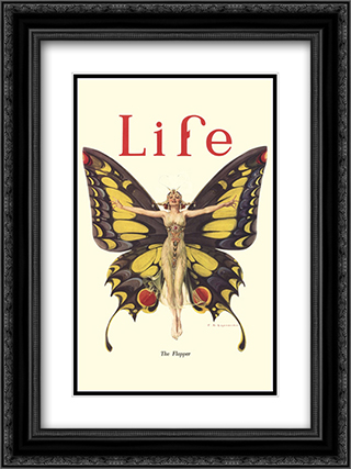 Life Butterfly 2x Matted 15x21 Black or Gold Ornate Framed Art Print