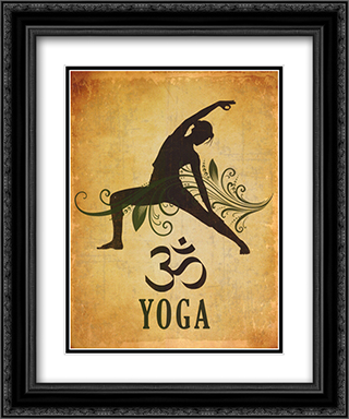 Yoga 2x Matted 20x24 Black or Gold Ornate Framed Art Print