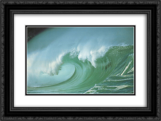 Waves 2x Matted 20x16 Black or Gold Ornate Framed Art Print by Jason Childs