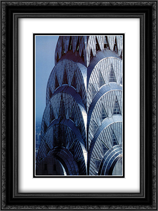 Chrysler Building 2x Matted 16x20 Black or Gold Ornate Framed Art Print by Maurice Harmon