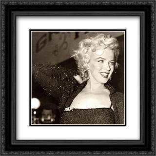 Marilyn Monroe: Carefree 2x Matted 20x20 Black or Gold Ornate Framed Art Print