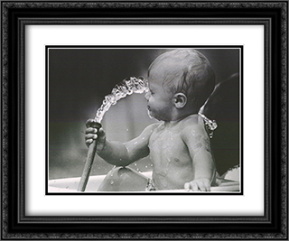 Little Squirt 2x Matted 20x24 Black or Gold Ornate Framed Art Print by Paul DeGruccio