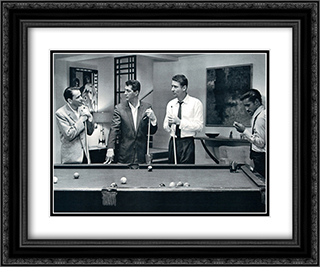 The Rat Pack - Pool 2x Matted 24x20 Black or Gold Ornate Framed Art Print