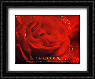 Passion 2x Matted 24x20 Black or Gold Ornate Framed Art Print