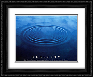 Serenity 2x Matted 24x20 Black or Gold Ornate Framed Art Print