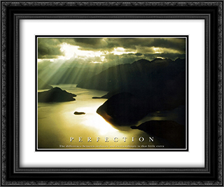 Perfection 2x Matted 24x20 Black or Gold Ornate Framed Art Print