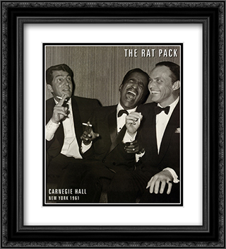 The Rat Pack 2x Matted 20x24 Black or Gold Ornate Framed Art Print