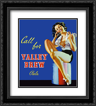 Valley Brew 2x Matted 20x24 Black or Gold Ornate Framed Art Print